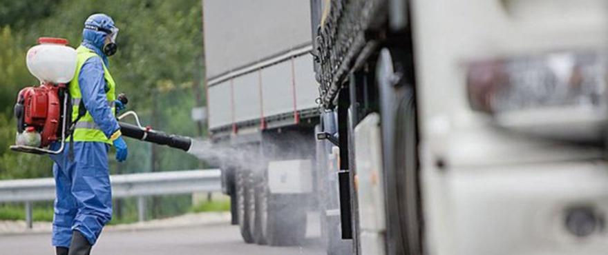 Дезинфекция транспорта, перевозящего пищевые продукты